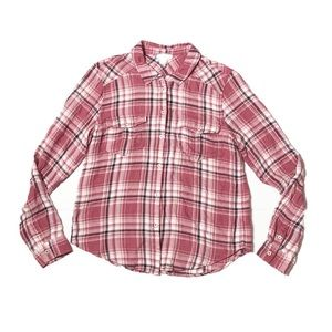 Paige Plaid Flannel Button Up Shirt